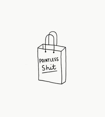 shopping bag sac shit vain absurde achat consommation