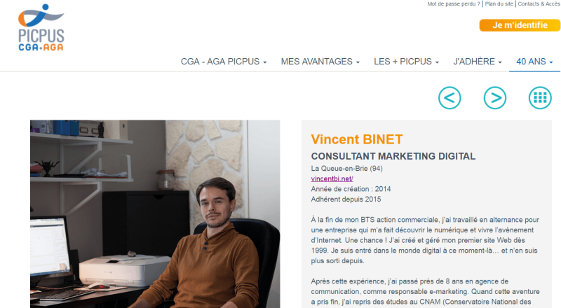Petite #Interview / #Portrait pour @cga_agaPicpus #consultant #marketing #digital @_vincent_binet
